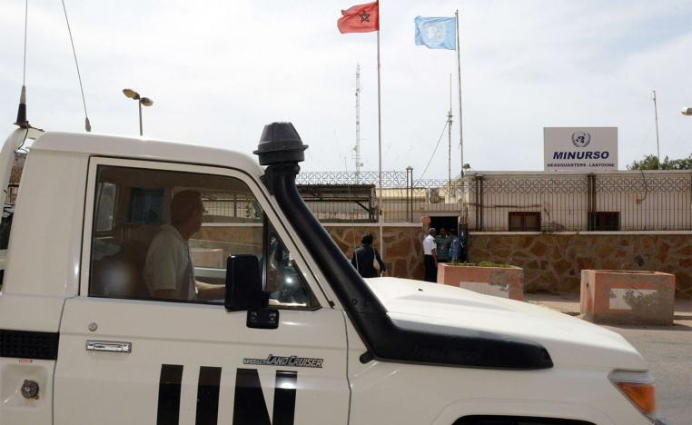 The headquarters of the United Nations Mission for the Referendum in Western Sahara (MINURSO) in Laayoune