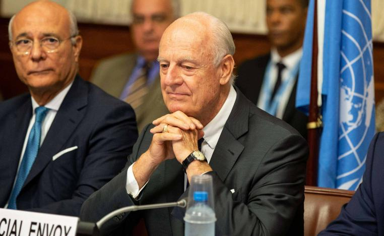 De Mistura will be traveling to Damascus next week to push for the creation of a committee to agree on a post-war constitution for Syria