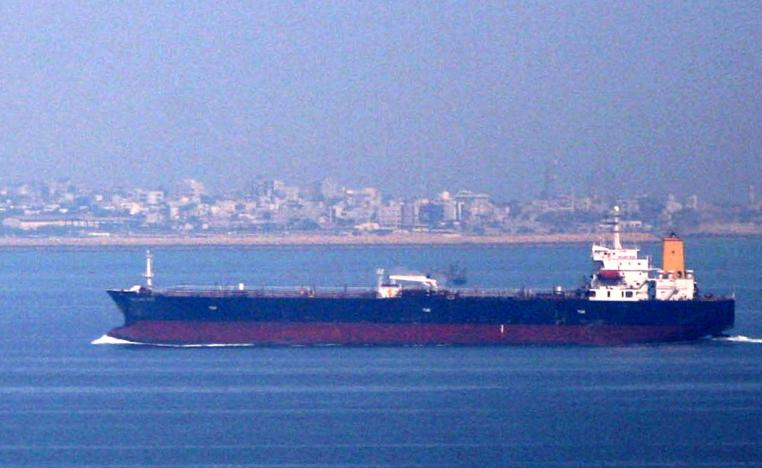 Iranian oil tanker in the Persian Gulf and Sea of Oman