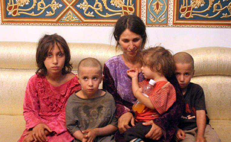 A woman and four children among the six released of 27 Druze hostages held by the Islamic State.