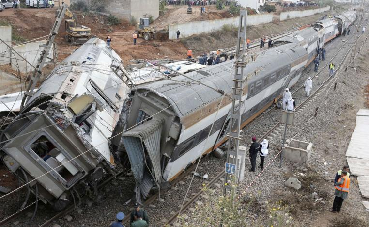 The crash occurred on a busy coastal line about 15 km north of Rabat
