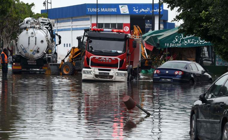 Flash floods in Tunis
