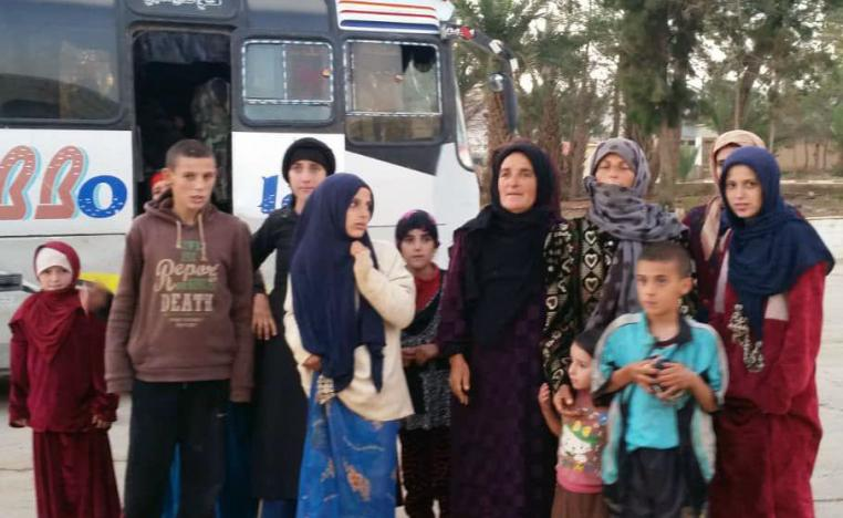 Women and children liberated from the Islamic State group in the Hamima area east of the historic town of Palmyra, Syria, on Nov. 8, 2018.