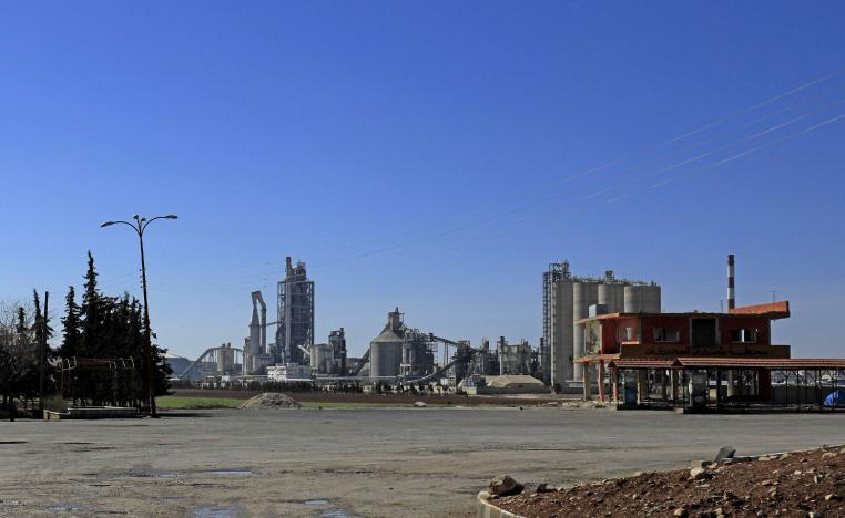 Lafarge Cement Syria (LCS) cement plant in Jalabiya, Syria on February 19, 2018.