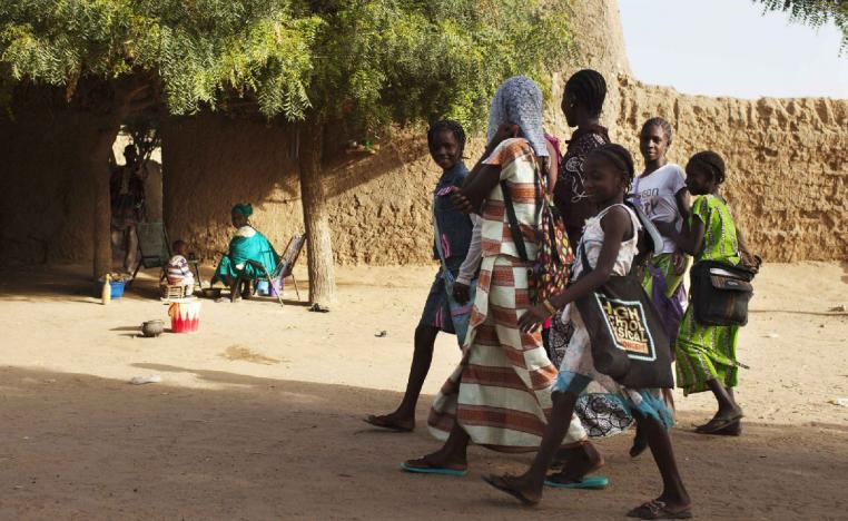 Girls walk to school in Gao, Mali.