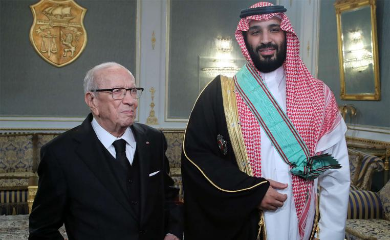 Essebsi awarded Saudi crown prince Tunisia's medal, the highest official award