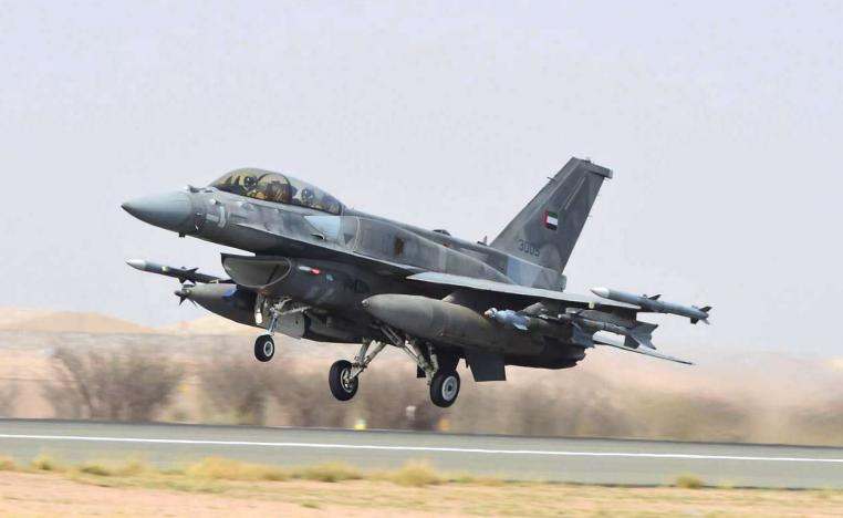 A fighter jet of the UAE armed forces.