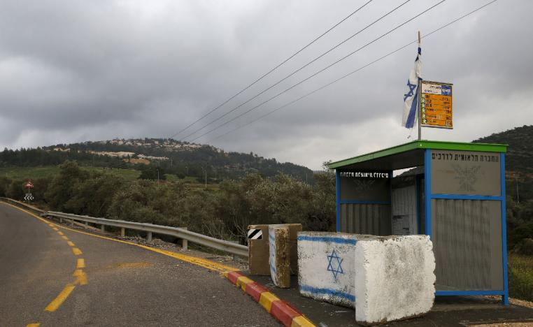 A road leading to the Jewish West Bank settlement of Dolev where rental properties listed on Airbnb are offered February 23, 2016.
