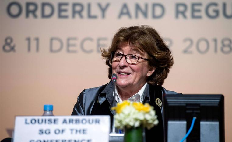 UN Special Representative for International Migration Louise Arbour