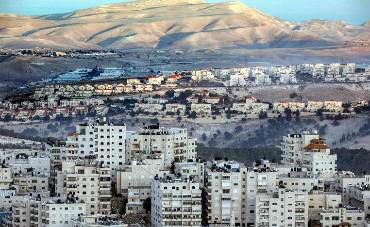 The expansion of illegal settlements continues