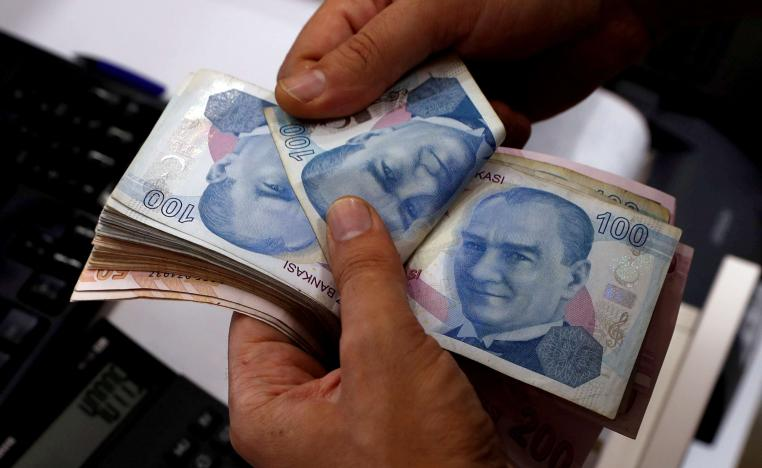 The Turkish lira traded at 5.3 against the dollar on Monday
