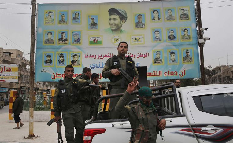 Kurdish fighters still based there in Manbij are part of the coalition-backed Syrian Democratic Forces alliance battling IS jihadists