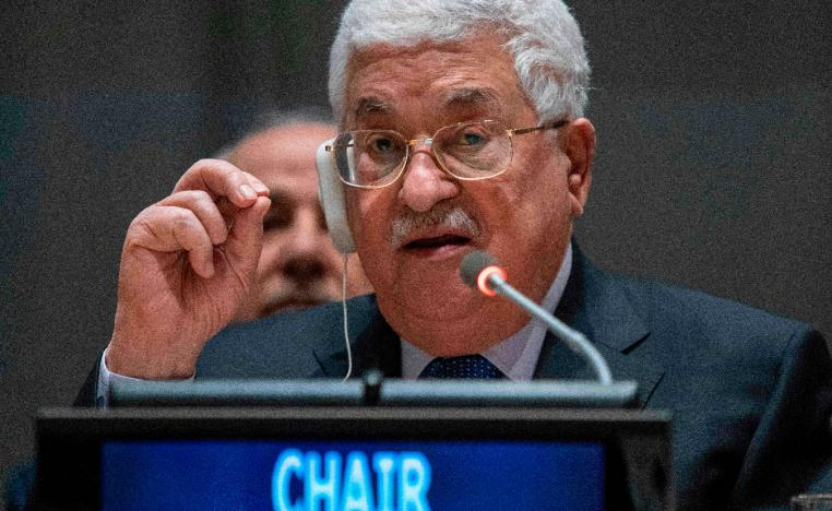 Palestinian president Mahmud Abbas addresses the United Nations Group of 77 and China January 15, 2019 at the United Nations in New York.