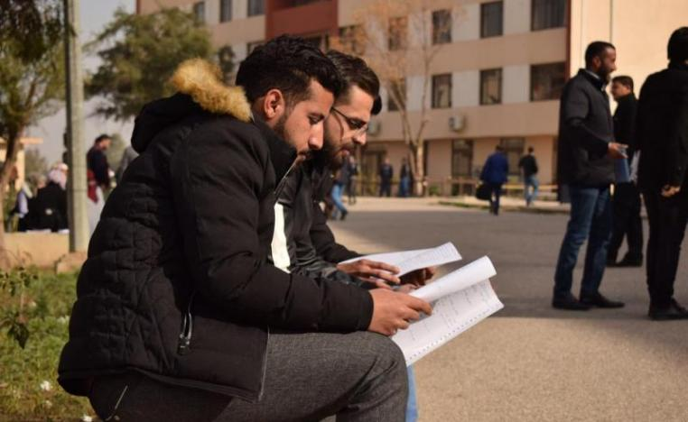 Down in the dumps. Iraqi students in the University of Mosul, January 16.