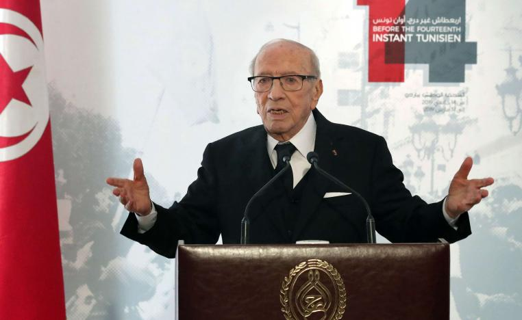 92-year-old Essebsi is Tunisia's first democratically elected president