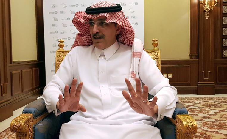 Saudi Minister of Finance Mohammed al-Jadaan speaks during an interview with Reuters at the Ritz-Carlton Hotel in Riyadh, Saudi Arabia, December 19, 2018.