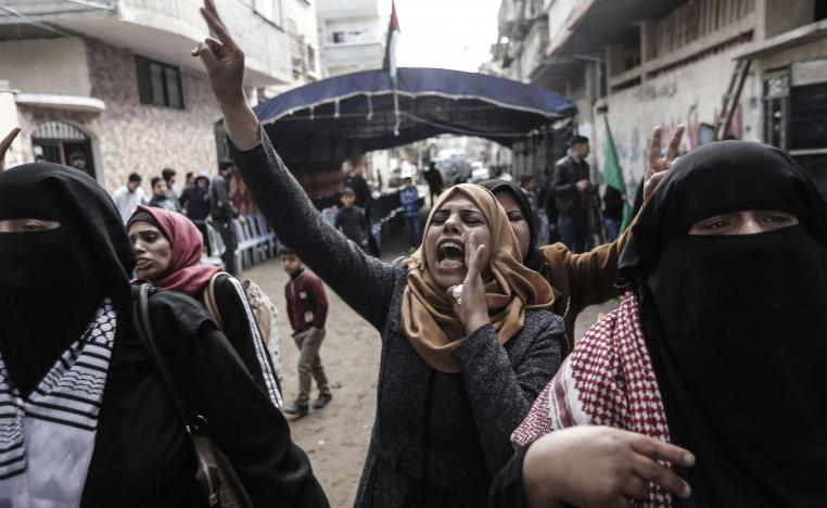The clashes come a day after a Gaza woman was shot dead by Israeli forces during weekly protests