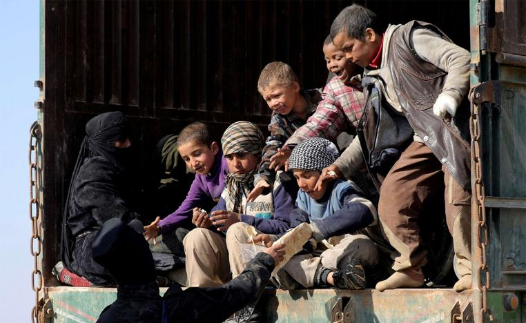 The remaining civilians were identified as mostly wives and children of IS fighters