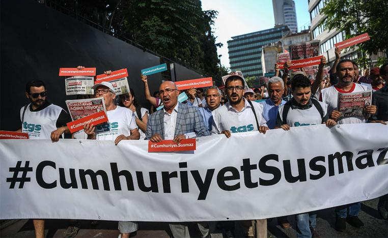 155 journalists and media executives are in prison in Turkey
