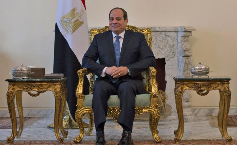 Egyptian President Abdel-Fattah el-Sissi meets with U.S. Secretary of State Mike Pompeo, in Cairo, Egypt on Jan. 10, 2019.