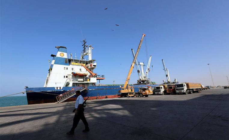 Hodeidah port is the entry point for the bulk of imported goods and relief aid to Yemen