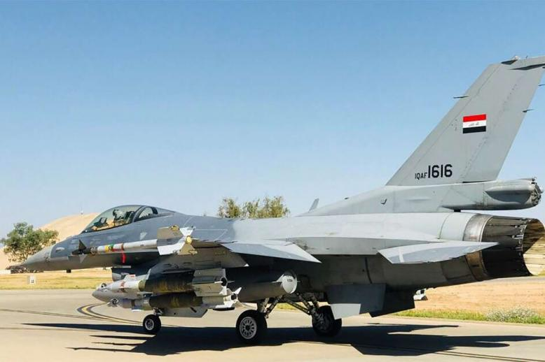 F16 fighter jet at an undisclosed location in Iraq