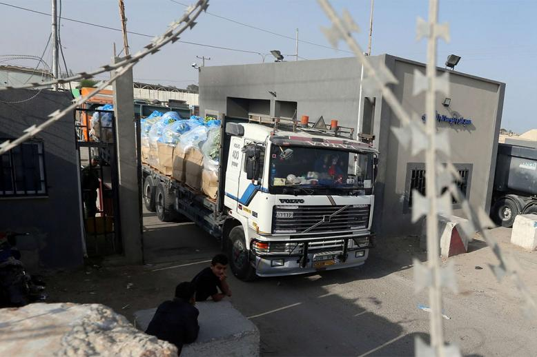 Trucks are going through into Gaza as usual