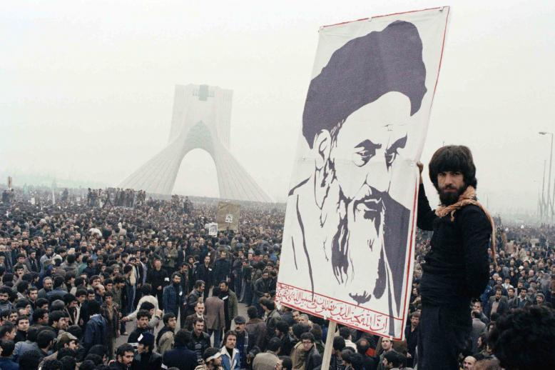 Oct. 9, 1978, Iranian protesters demonstrate against Shah Mohammad Reza Pahlavi in Tehran, Iran