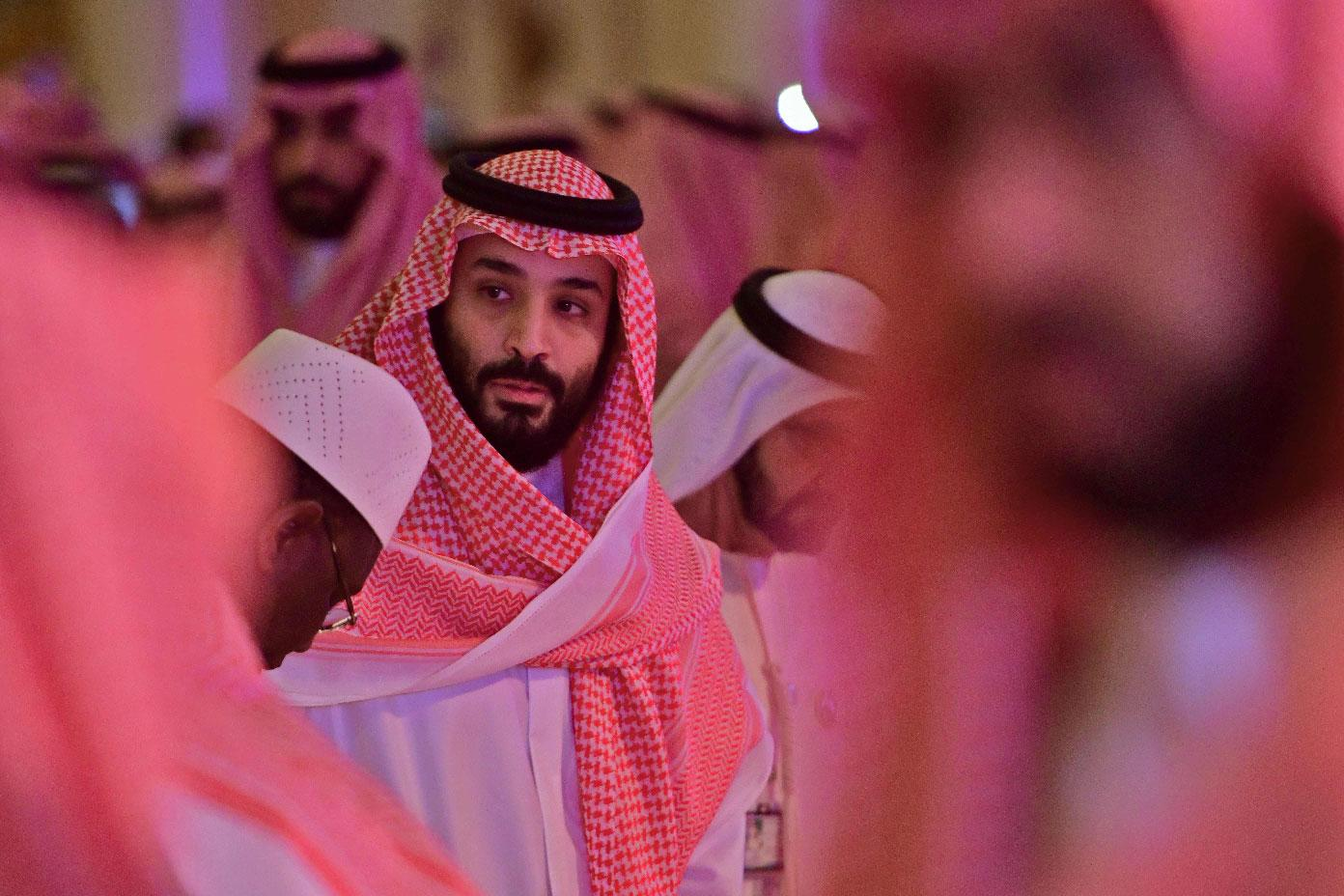 Saudi Crown Prince Mohammed bin Salman arrives at the Future Investment Initiative FII conference in the Saudi capital Riyadh on October 24, 2018.