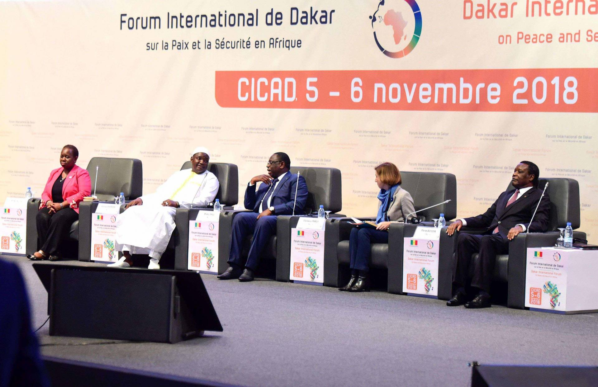 The Dakar International Forum on Peace and Security, launched in 2013, is a French-supported initiative gathering several hundred political leaders