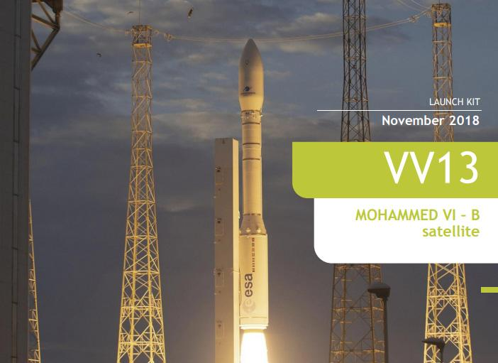 A Vega rocket will launch a MOHAMMED VI - B Earth observation satellite