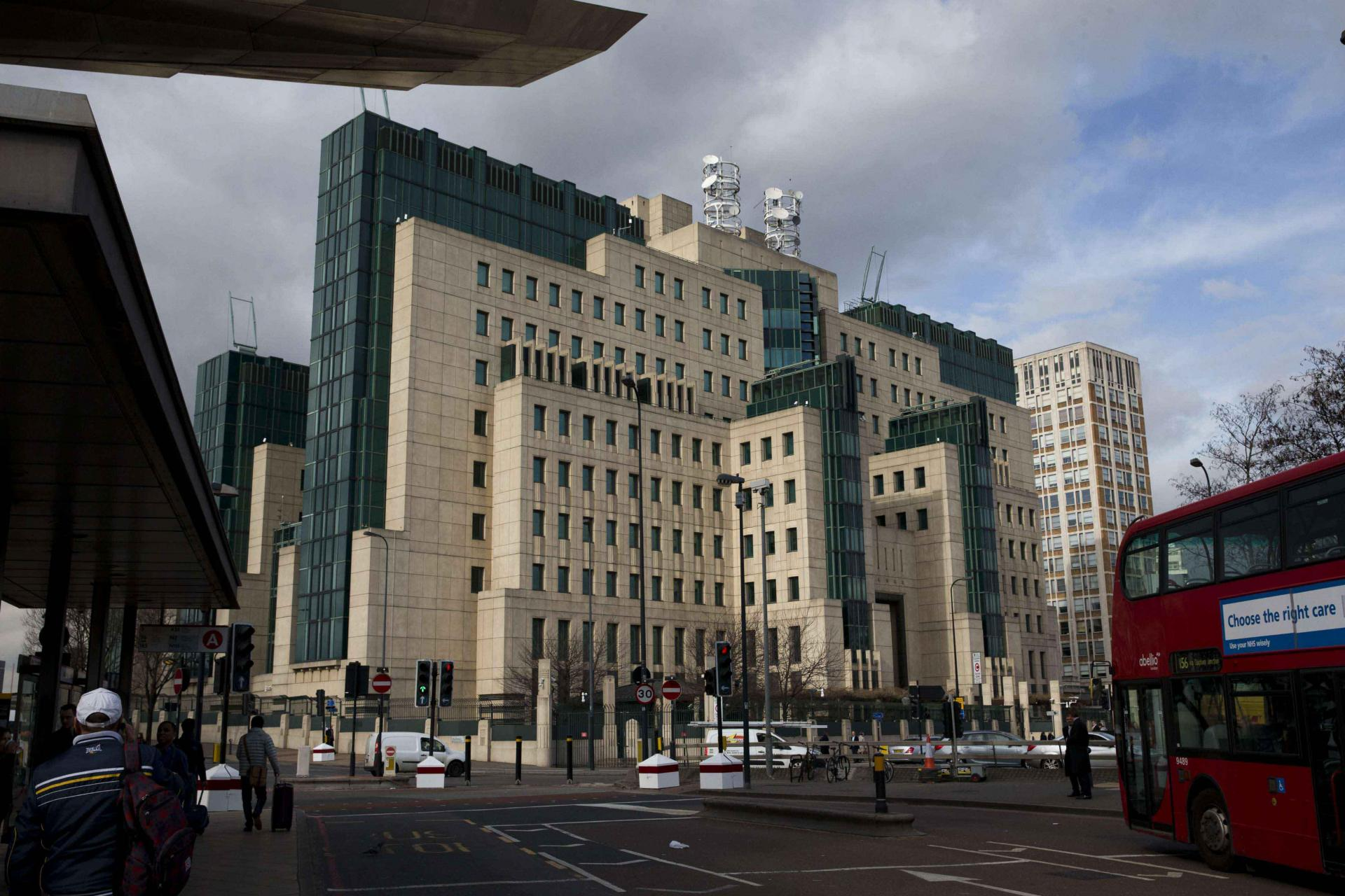 A general view showing the MI6 building in London