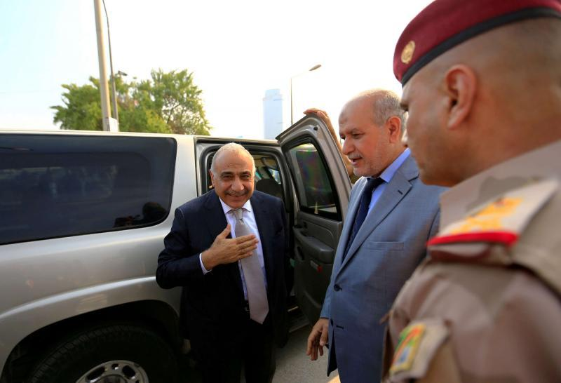 Limited margin for manoeuvre. Iraq's Prime Minister Adel Abdul-Mahdi (C) in Baghdad.