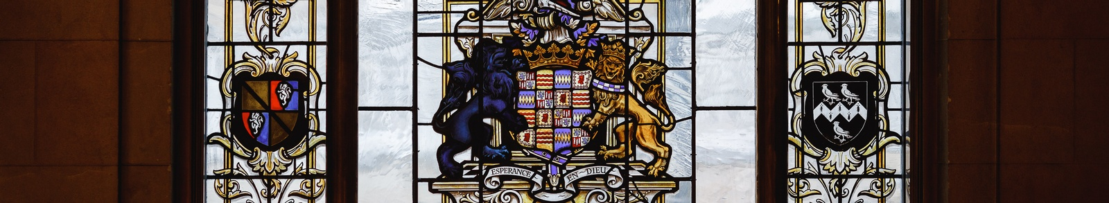 The Great Hall's Stained Glass banner