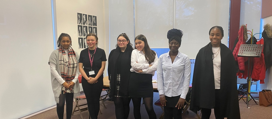 Six girls from St Saviour's and St Olave's School