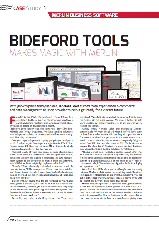 Bideford Tools Makes Magic with Merlin – Torque Magazine
