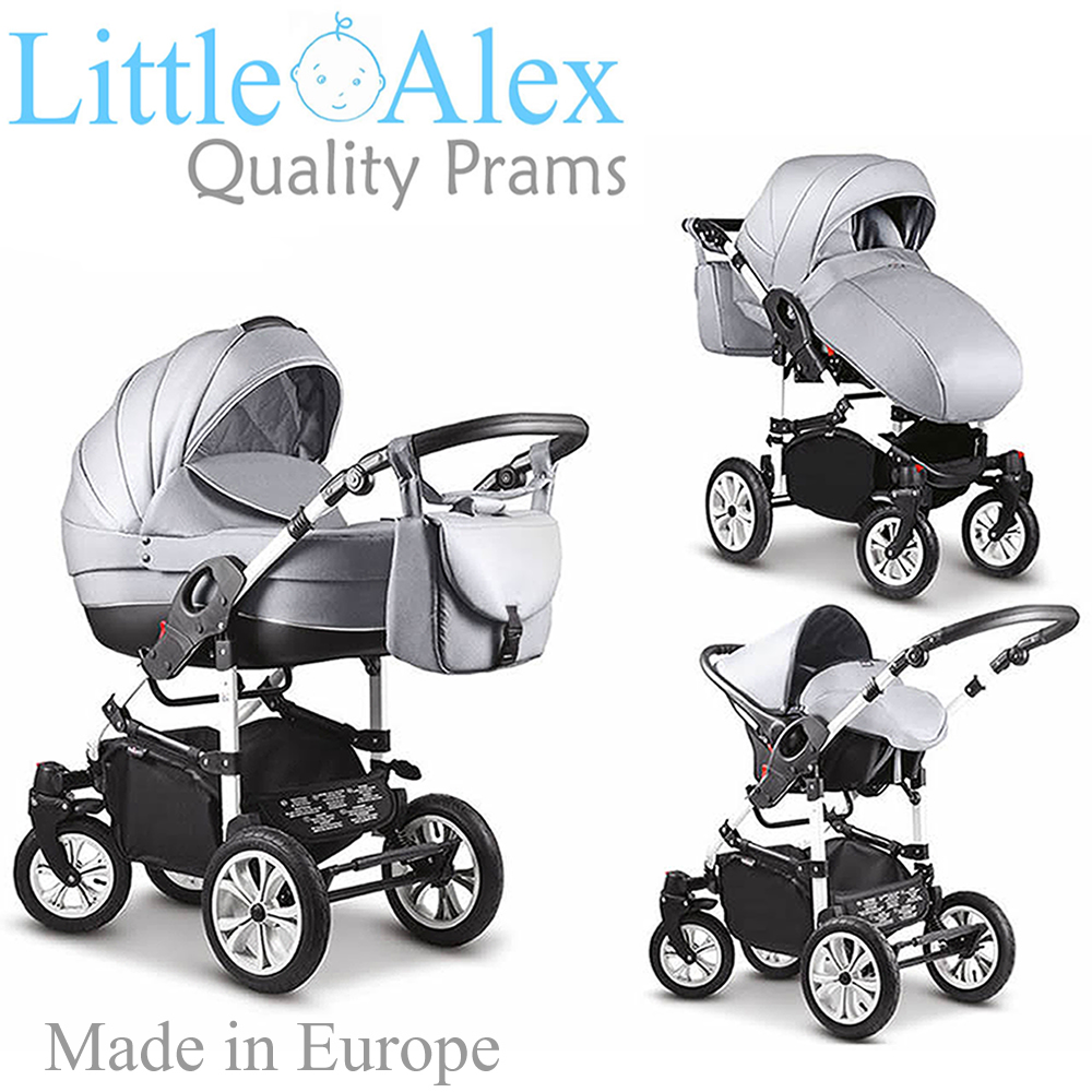 Details About Silver 3 In 1 Baby Pram Stroller Pushchair Car Seat Carrycot Travel System Buggy