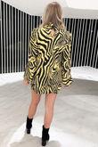 Zebra Print Dress-Yellow