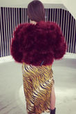 Red Wine Faux Fur
