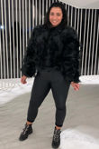 Faux Fur Only Jacket - Black
