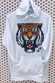 Tiger Print hoodie - White