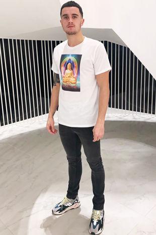 Men's White Buddha T shirt