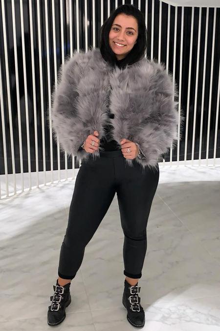 Faux Fur Only Jacket - Grey