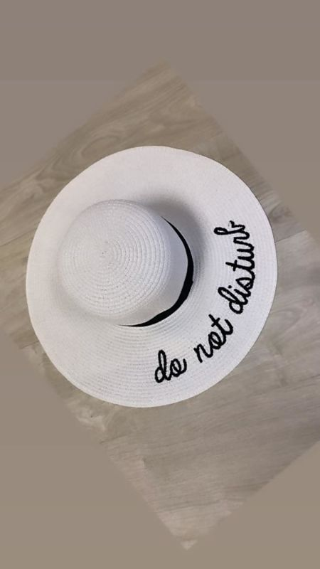 Miss Mills White Do Not Disturb Hat