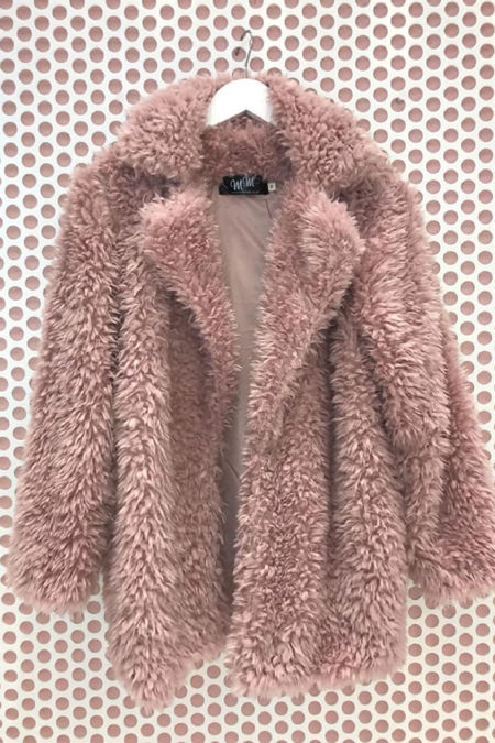 Pink Teddy Coat