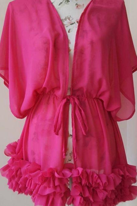 Pink Frilly Kaftan