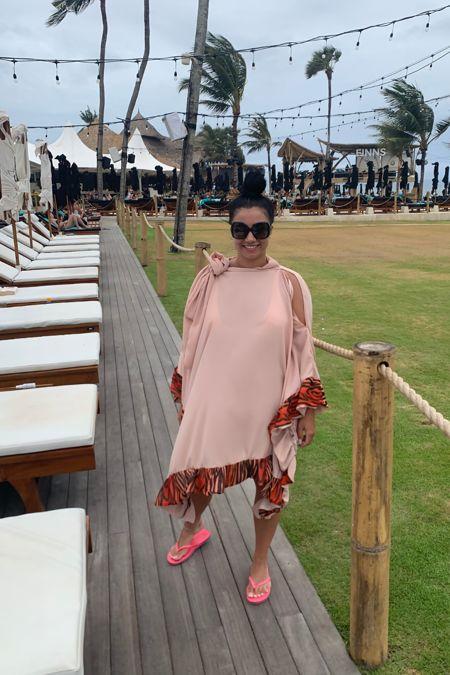 Miss Mills Pink Frilly Kaftan