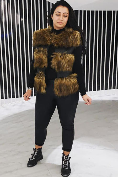 Faux fur Only Gilet