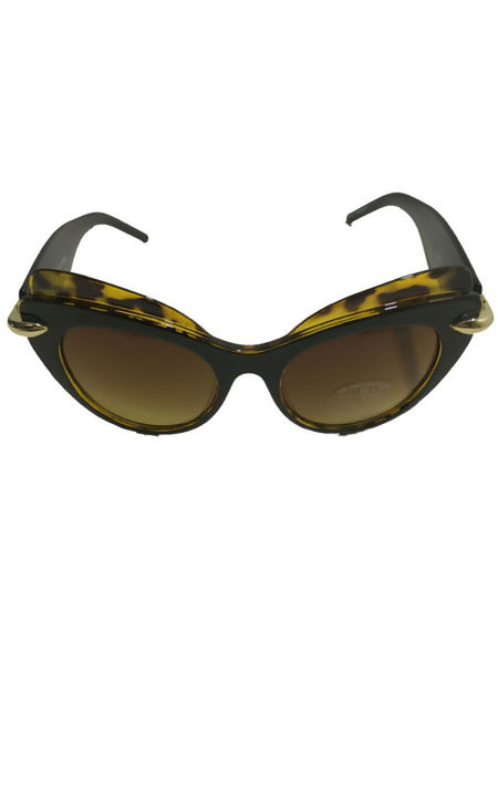 Cat Eye High Rimmed Brown Sunglasses