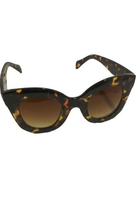 Thick Round Rimmed Cat Eye Sunglasses